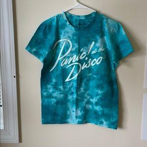 Panic at the Disco Blue Tie-Dye T-shirt